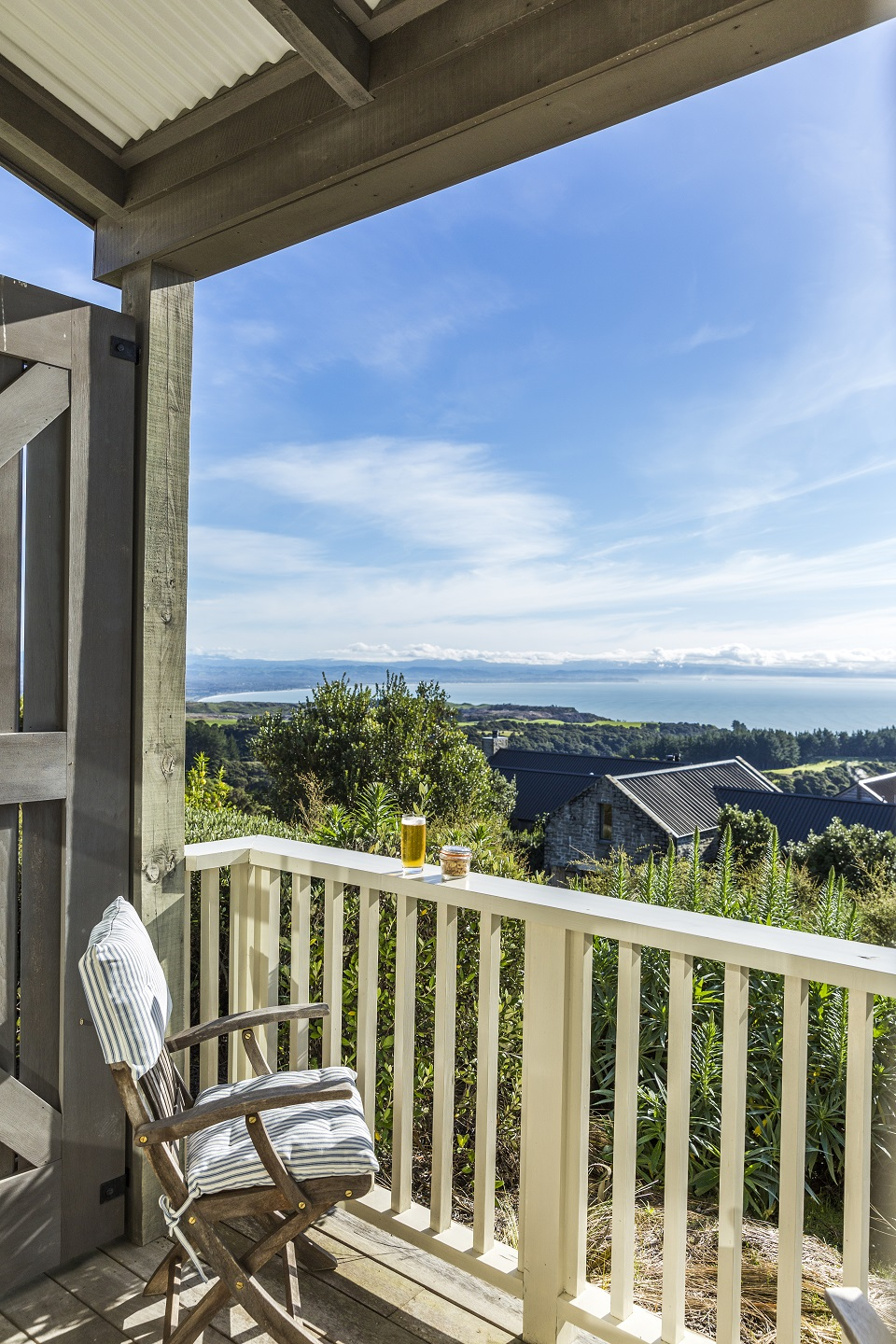 Marvel at the beautiful scenic views across the Cape Kidnappers property from your hilltop suite