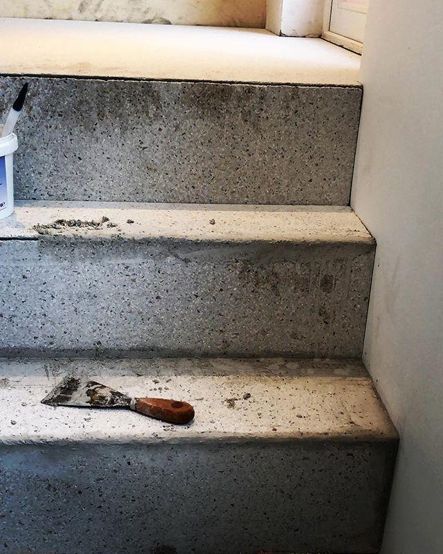 In love with terrazzo #terrazzo #stairs #craftmanship #interior #promanys #knokke