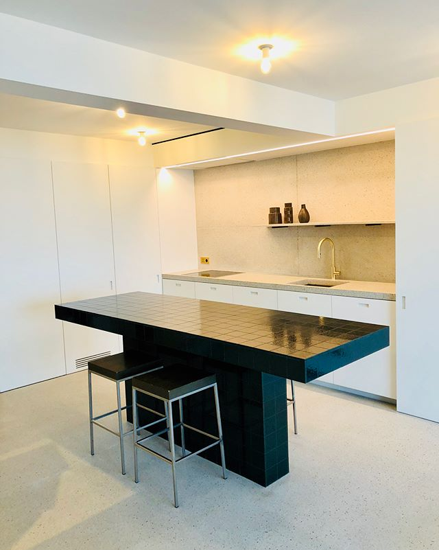 Appartement Knokke-Heist #Terrazzo #kitchen #craftmanship #Promanys #cosy #donebypromanys
