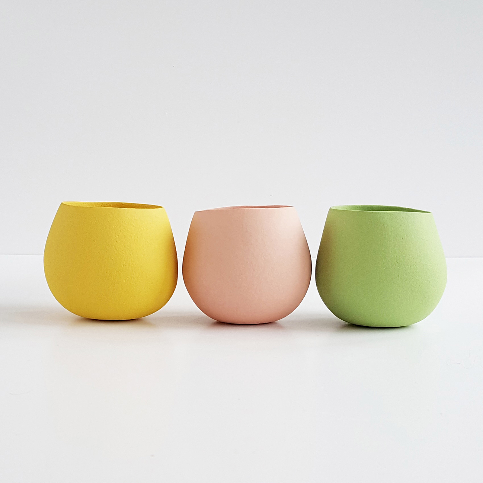 Small line up - tiny open vessel forms -each approx 5cm high