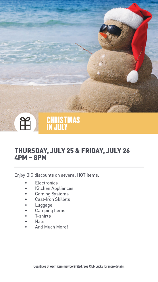 Christmas In July Camping.Christmas In July Lucky Dog Casino Gaming And Dining In