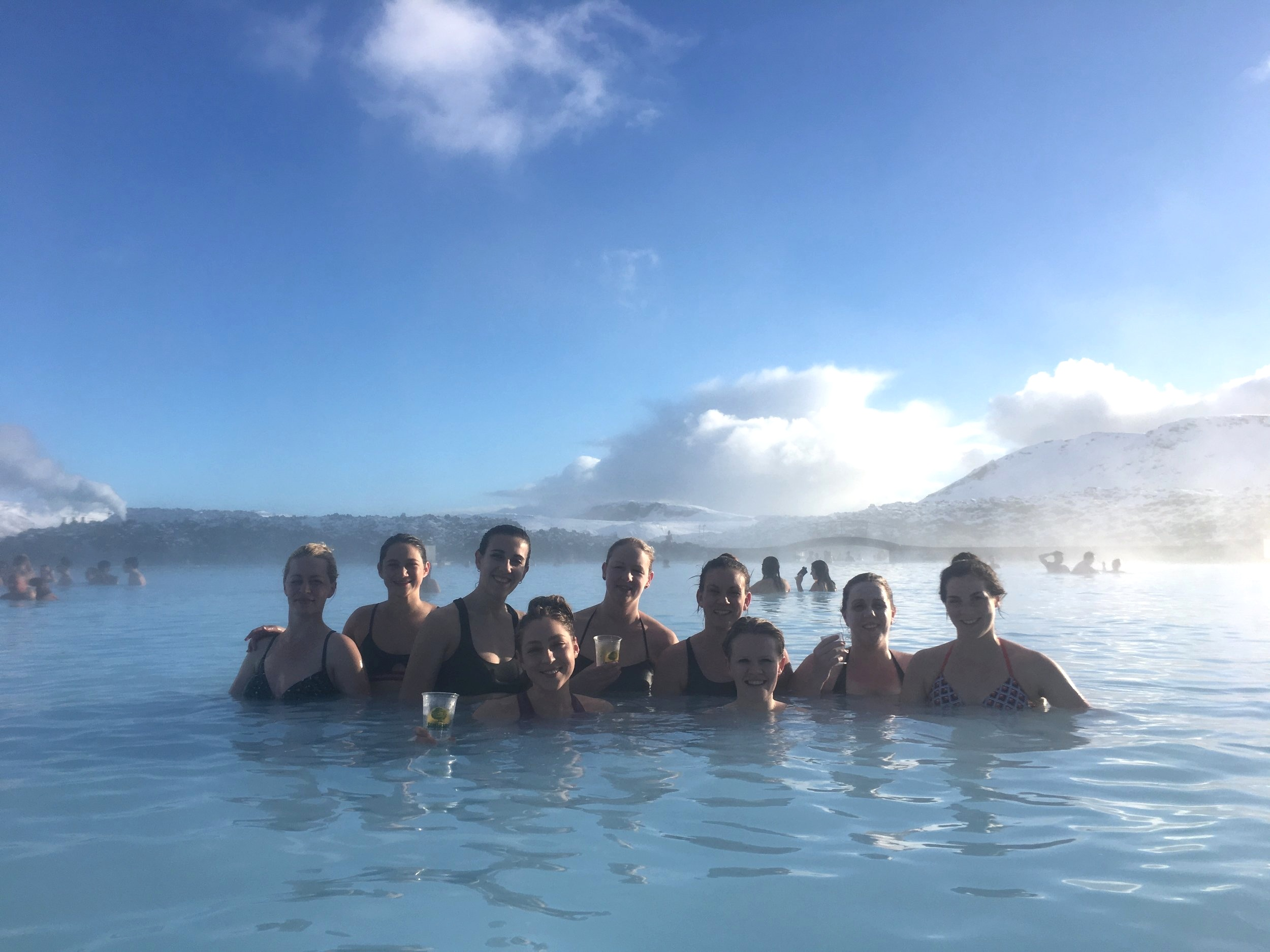 The crew kicking back at The Blue Lagoon