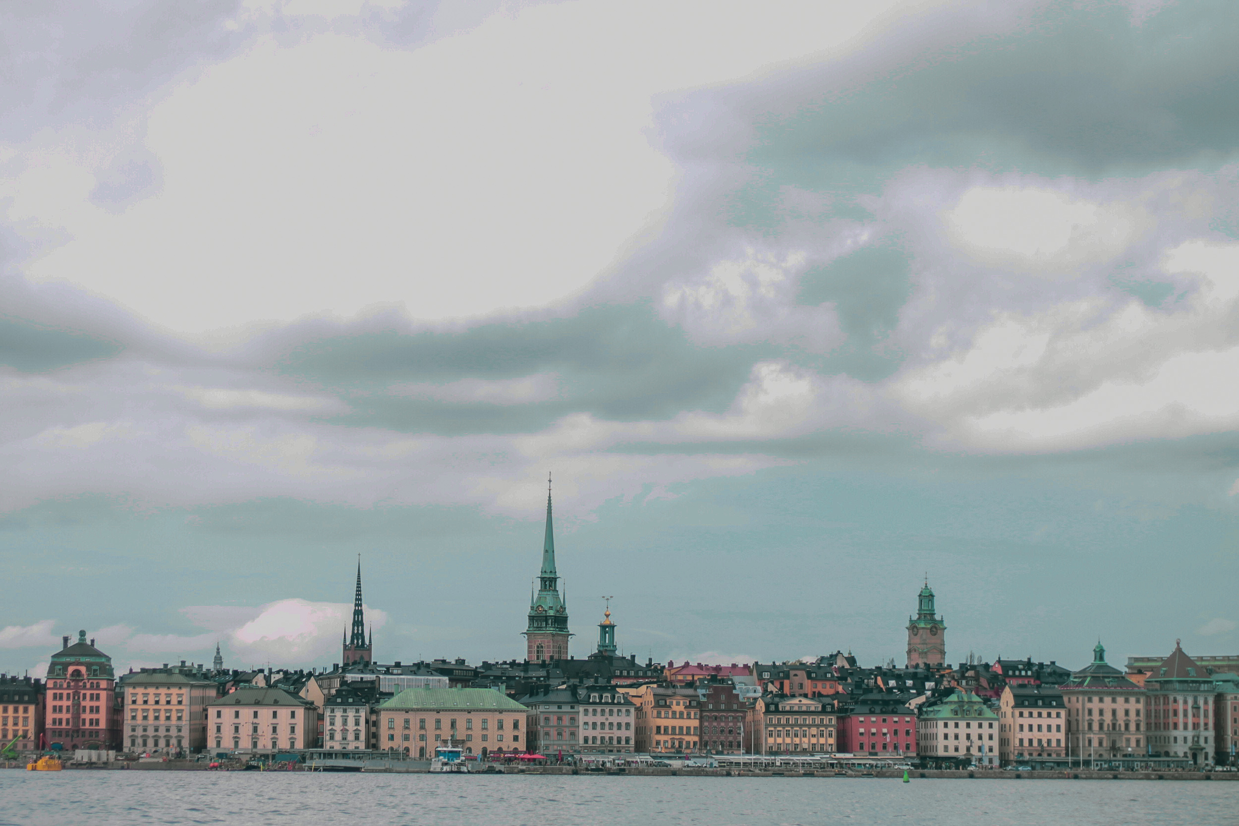 Views of Stockholm from the boat to Skansen