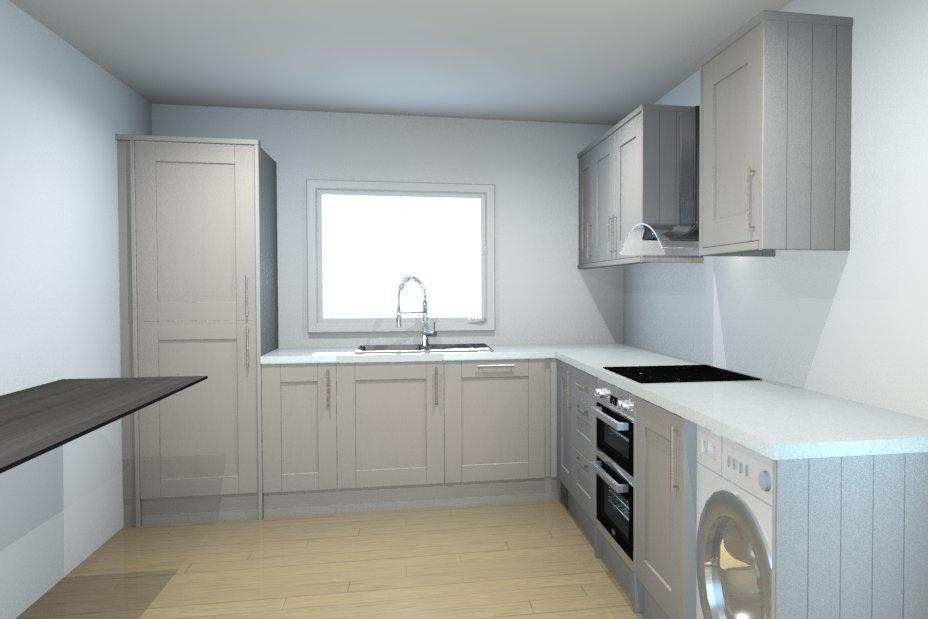 Draft kitchen re-design