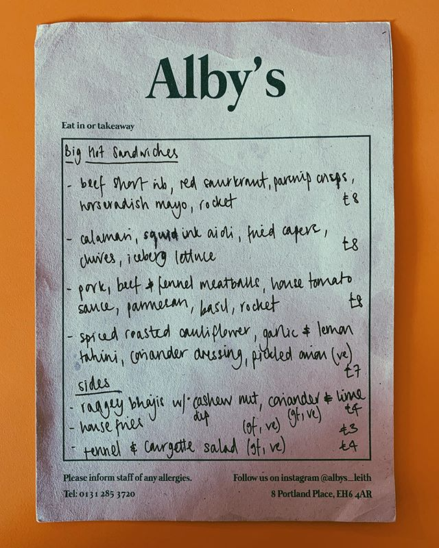 If Carlsberg did sandwich shops... Alby's on Portland Place bringing the 🔥 with their truly ridiculous sarnie offering. We had the short rib and meatballs - both served on the most delicious, salted focaccia. Swipe ⬅️ to see some unadulterated sarnie porn. It's open until 10pm so next time you're hungry, make sure you make a beeline for Leith. 🥪  @albys_leith