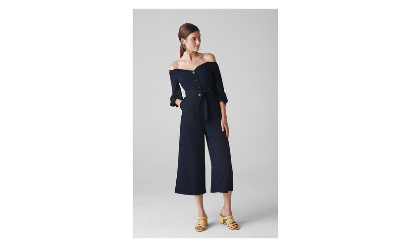 Whistles, Carina Off Shoulder Jumpsuit