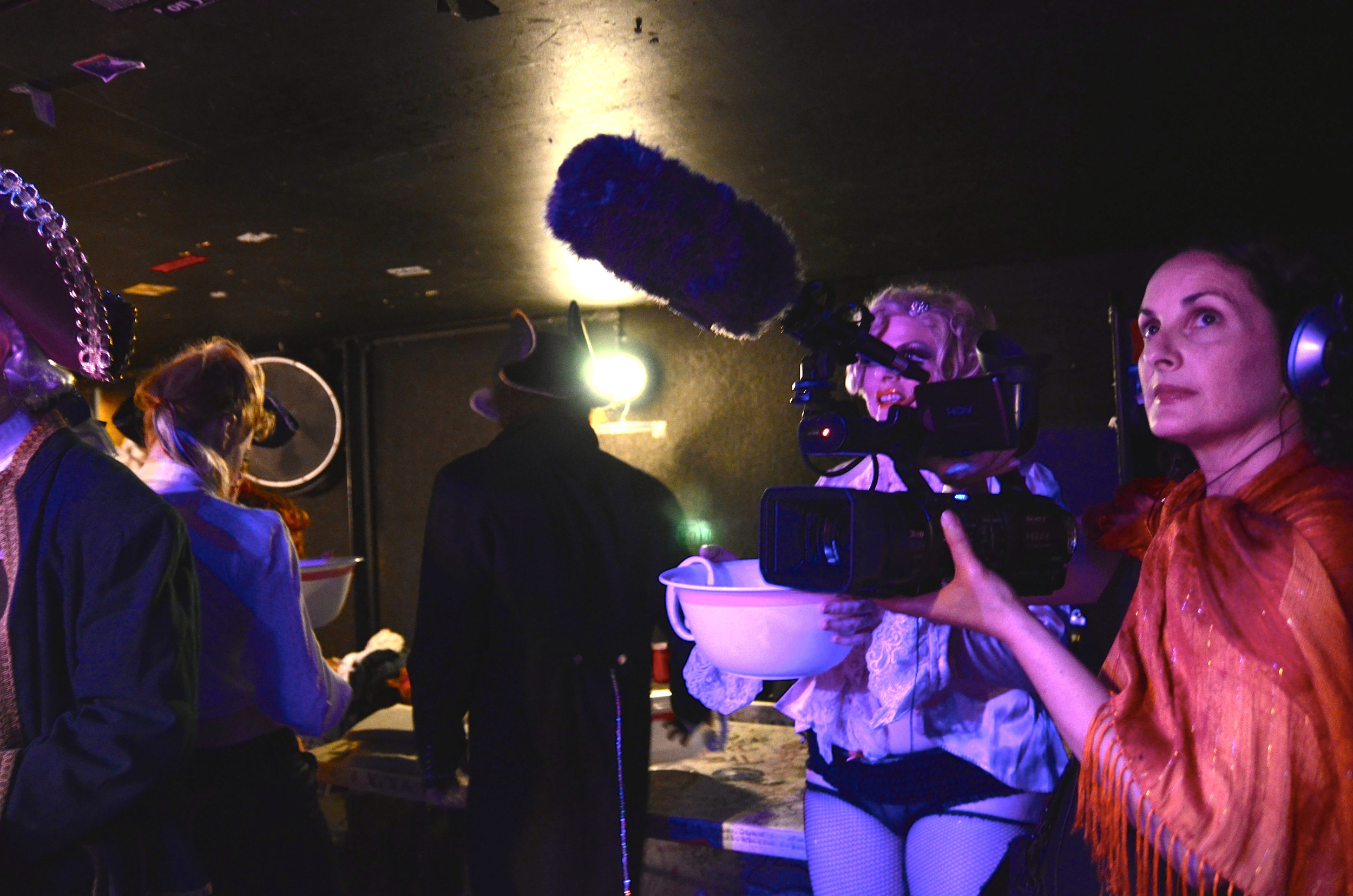 Kirsten filming a Trixie & Monkey show at the Ottobar, Baltimore, Maryland, 2011, Photo by Adam Wilder