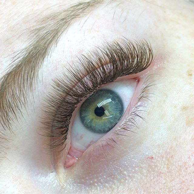 Brown lashes make her eyes so blue 💙💙💙 • • • • #lashes #lashextensions #brownlashes #dartmouthlashes #dartmouth #halifaxlashes #halifax #dartmouthlashbar