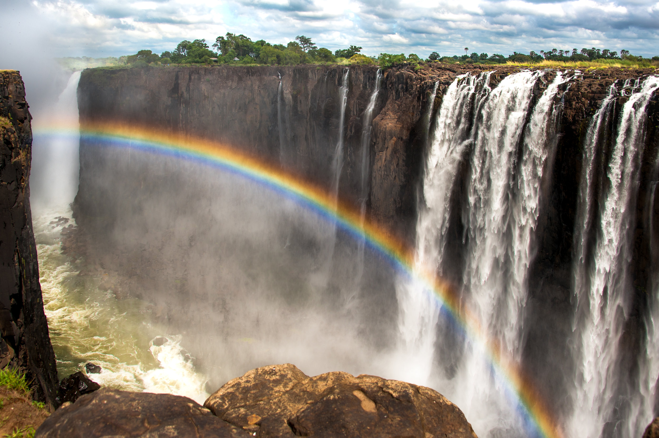 """Over the Rainbow""  Photographed by Ron Foster                      Victoria Falls, Zimbabwe, Africa"