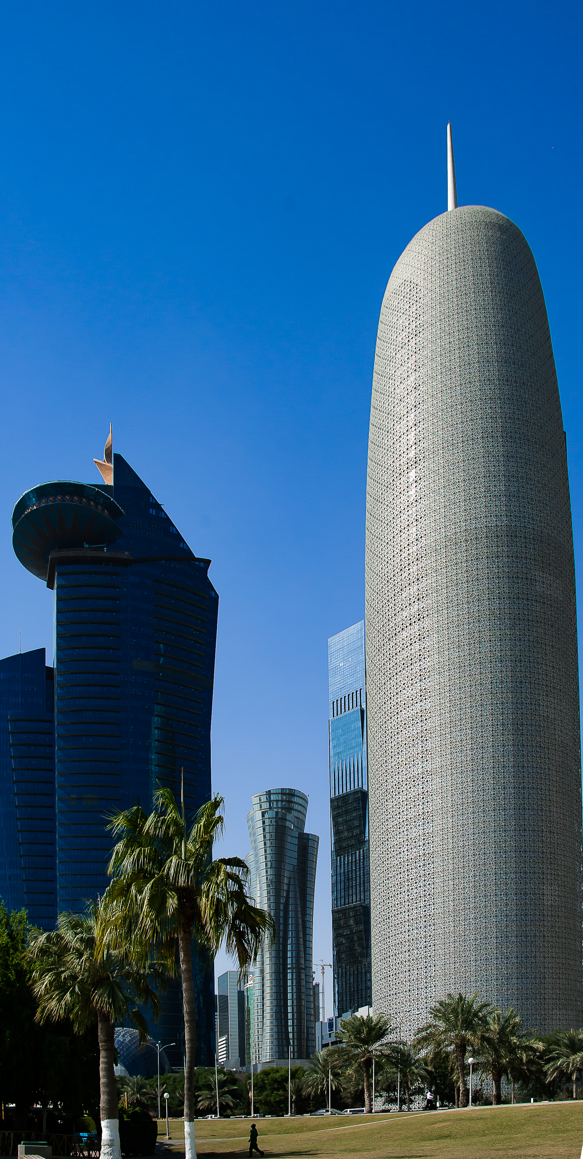 """Desert Soaring Towers""  Photographed by Ron Foster                          Doha, Qatar"