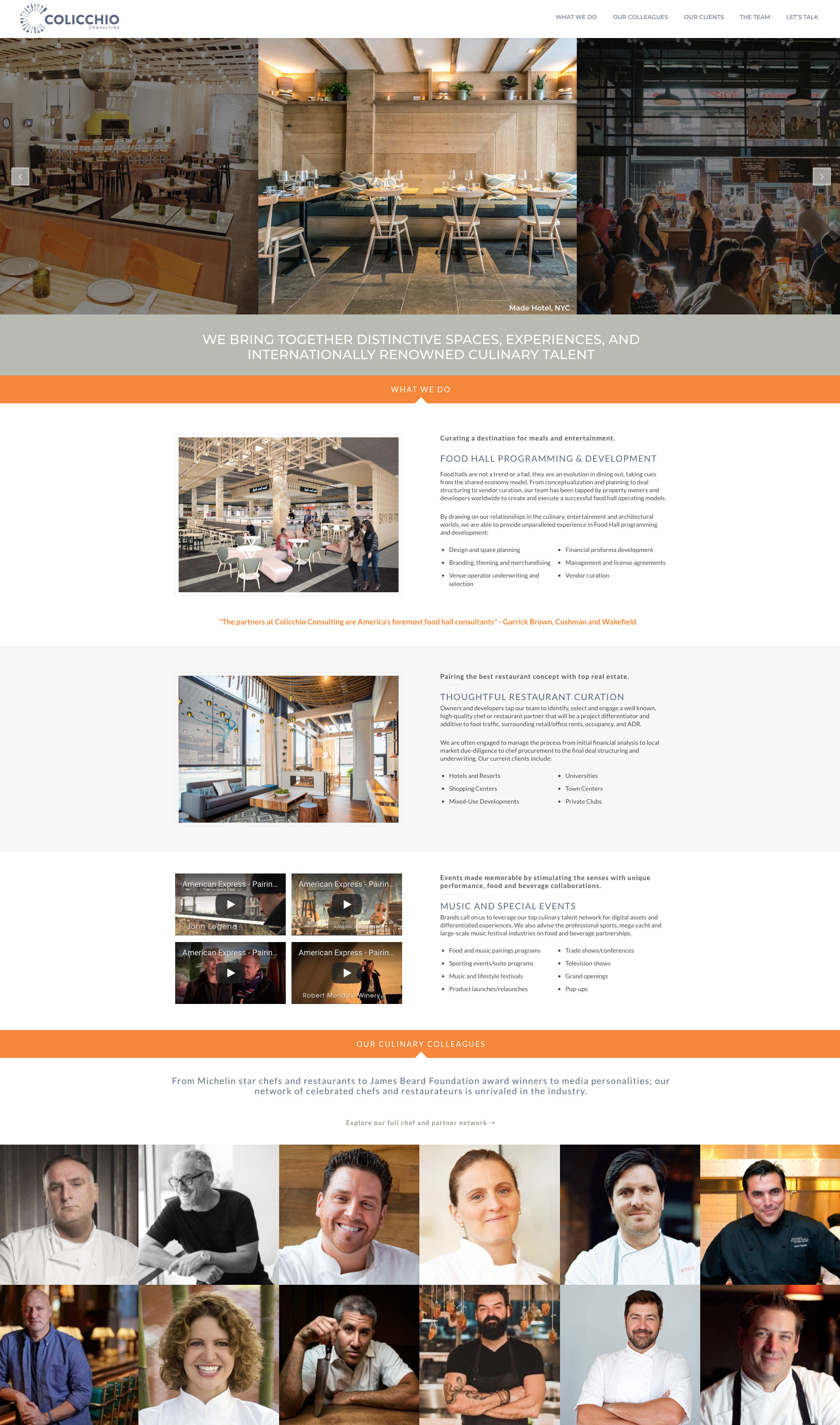 Quick Website Builds for Advisory Firms & Small Business like Colicchio Consulting