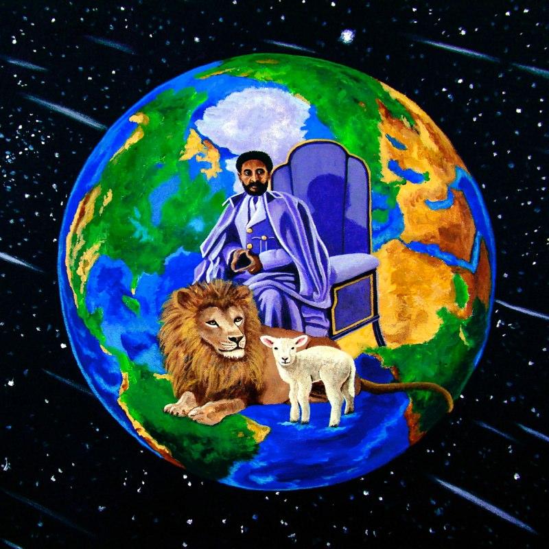 Artist:  Ejay Khan   Title: Earth's Rightful Ruler (2006)   Source: http://www.khanstudiointernational.com