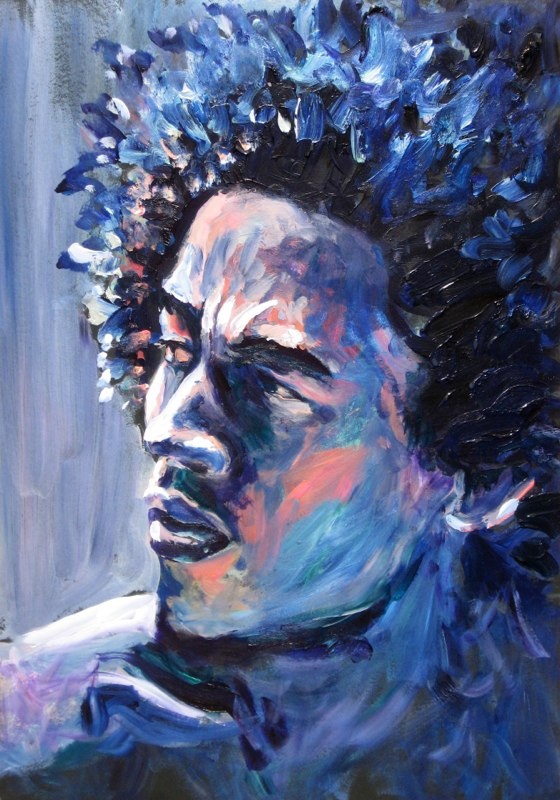 Artist:  Lois Cordelia   Title: Bob in Blue (2011)   Source: http://www.loiscordelia.com/