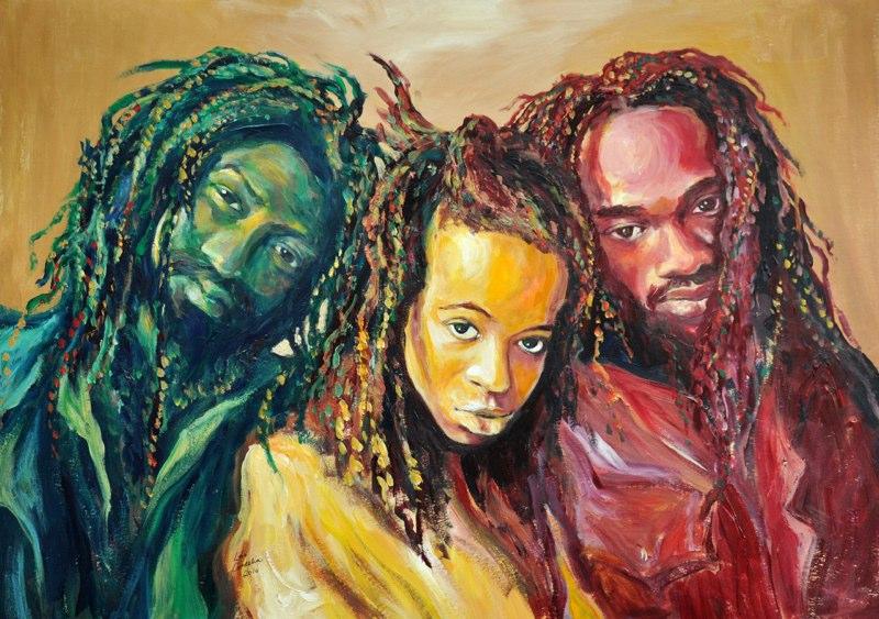 Artist:  Lois Cordelia   Title: Black Uhuru (2010)   Source: http://www.loiscordelia.com/