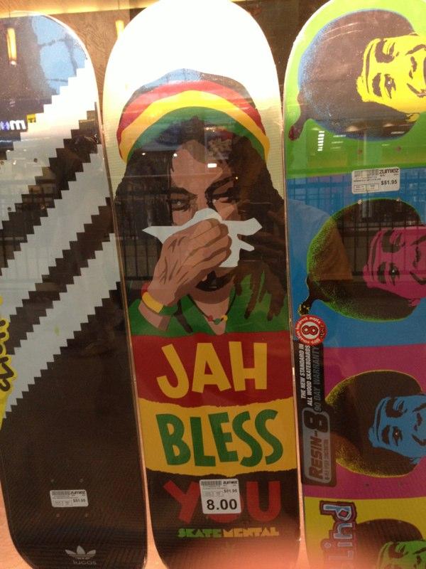 Jah Bless You Skateboard   Photo: Mark & Luke Ehrhardt Summer 2013