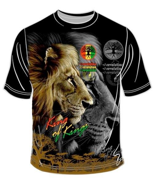 King of Kings T-Shirt   Photo: http://www.popscreen.com/tagged/rasta-lion-judah-reggae/images  Accessed Spring 2013