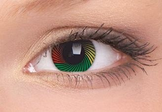 ColorVue Contact Lenses   Photo: http://www.beautifeye.co.uk/new-colourvue-rasta-crazy-colour-contact-lenses-1-year-wear-detail  Accessed Spring 2013