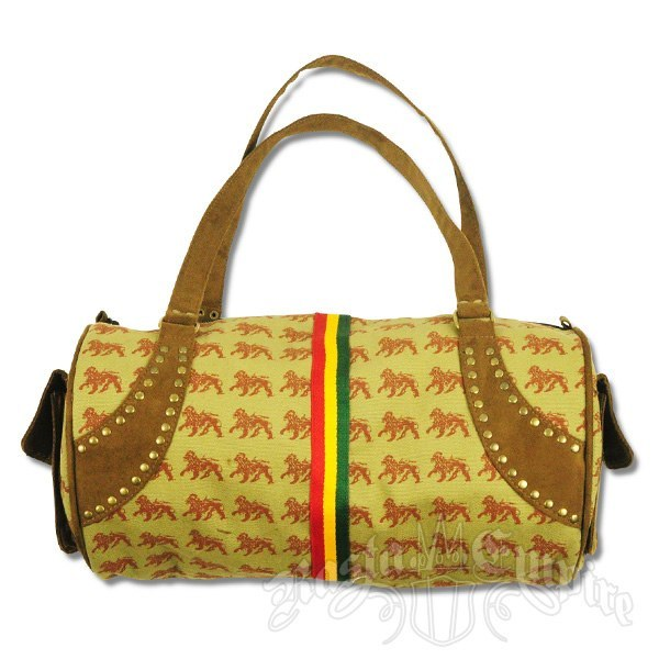 Dub Wise Rasta Lion Purse   Photo: http://www.rastaempire.com/p-2113-dub-wise-rasta-lion-large-barrel-purse-khaki.aspx  Accessed Spring 2013