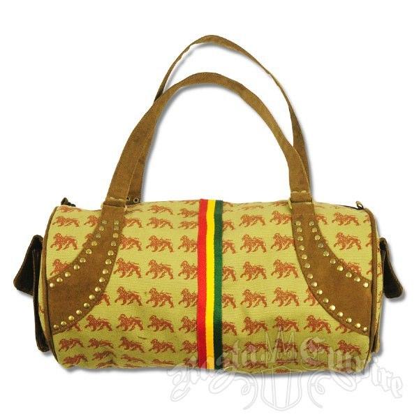 Dub Wise Rasta Lion Purse   Photo: http://www.rastaempire.com/p-2113-dub-wise-rasta-lion-large-barrel-purse-khaki.aspx  Accessed Spring 2013
