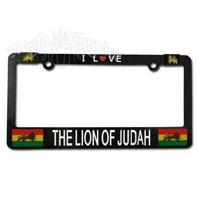 Lion of Judah License Plate Frame   Photo: http://www.rastaempire.com/p-1584-i-love-the-lion-of-judah-license-plate-frame.aspx  Accessed Spring 2013