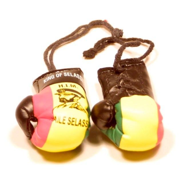 Selassie Boxing Gloves   Photo:http://www.ebay.co.uk/itm/Selassie-Rastafari-Flag-Mini-Boxing-Gloves-/150877925775  Accessed Spring 2013