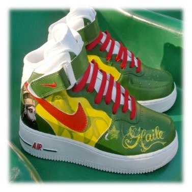 Selassie Shoes   Photo: http://flickrhivemind.net/Tags/af1,custom/Interesting  Accessed Spring 2013