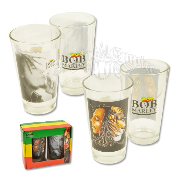 Bob Marley Profile and Smoking Pint Mug Glass Set   Photo: http://kootation.com/bob-marley-acoustic-coffee-mug/page/2/  Accessed Spring 2013