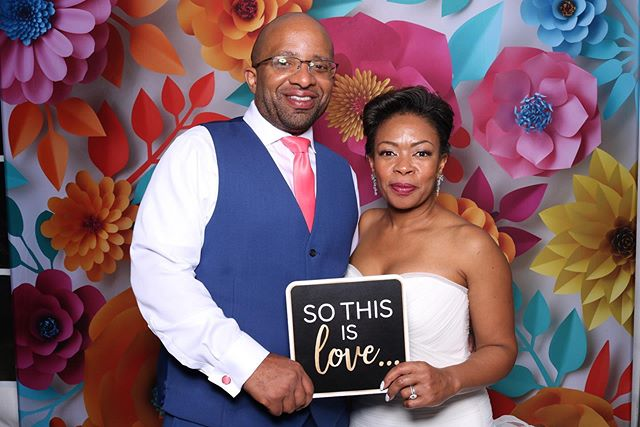 Some of our favorites from Rahsaan and Charlenes wedding this past weekend! They choose our 3D Floral backdrop with our DSLR print booth and 2x6 print strips. We love this backdrop and we're sure you will see why!