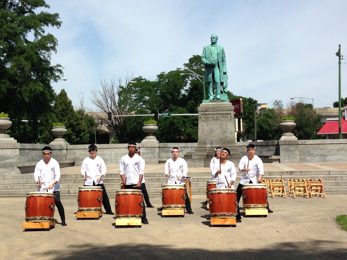 Tsukasa Taiko Drummers, McKinley Park, Chicago, Midnight Circus
