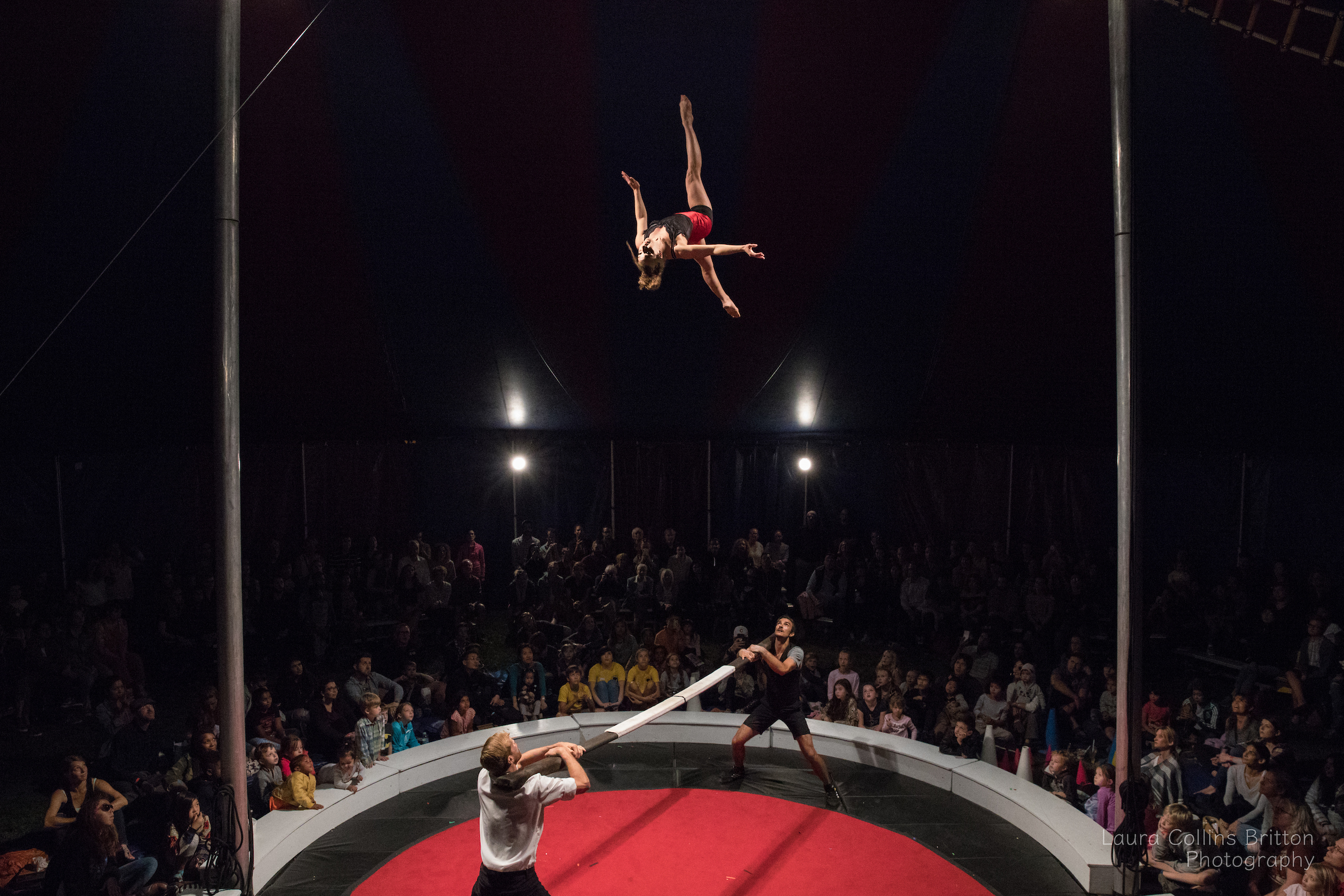 Midnight Circus Acrobats on Russian Bar