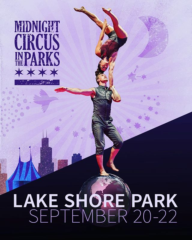 Next stop Lake Shore Park. Get those tickets while you still can! Link in bio. @chicagoparks #midnightcircus #circusintheparks #community #chicago