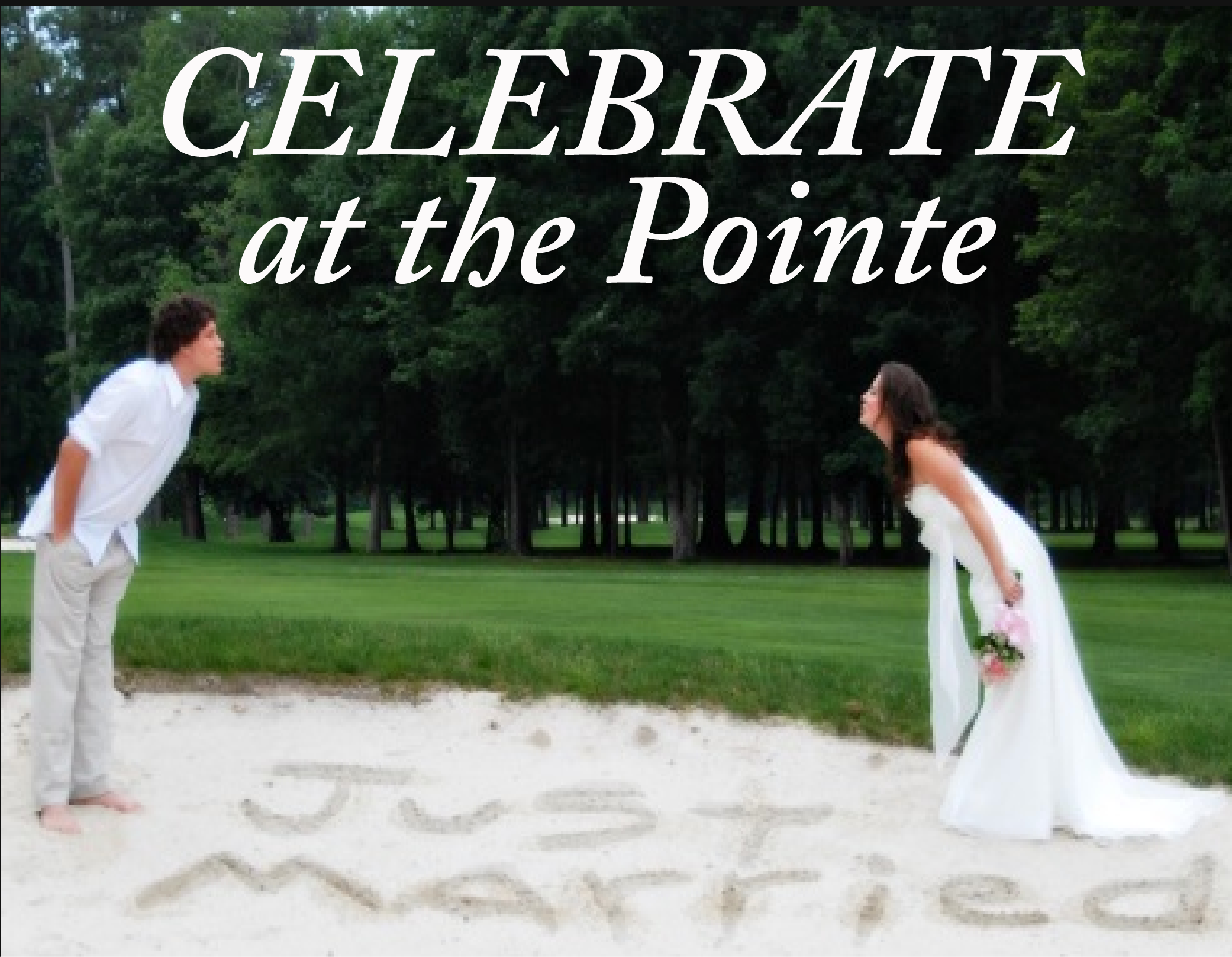 Celebrate @The Pointe - Weddings, Receptions, Reunions, Showers, Meetings.....the Only Limit is Your Vision. We Provide Full Catering Services & Staff Seeking to Make Your Special Day Memorable!