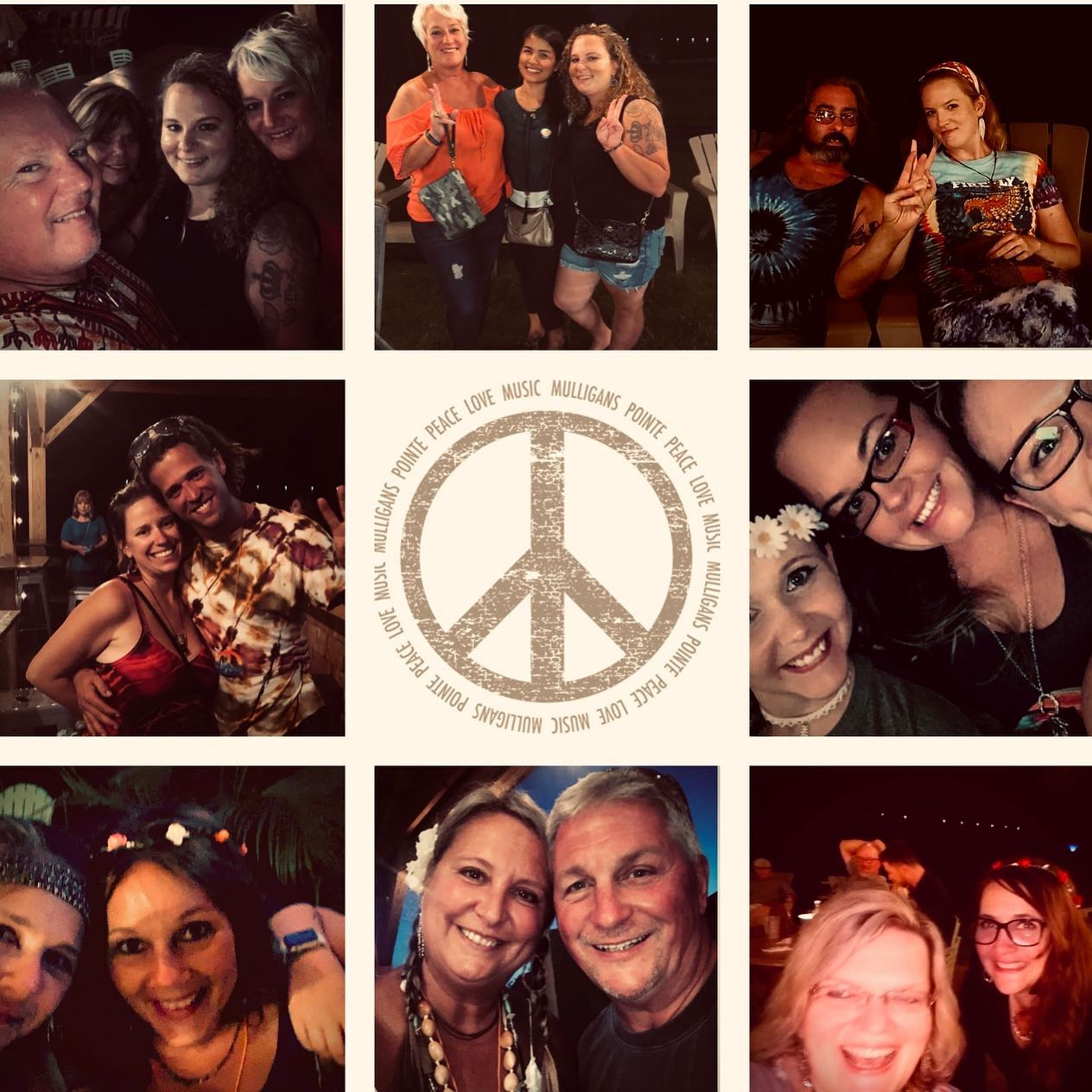 "Submitted By Mulligan's Via Photo Contest  ""Thanks to our guests & awesome entertainment Woodstock50 was an amazing weekend filled Peace, Love, Music & #mulliganmoments"