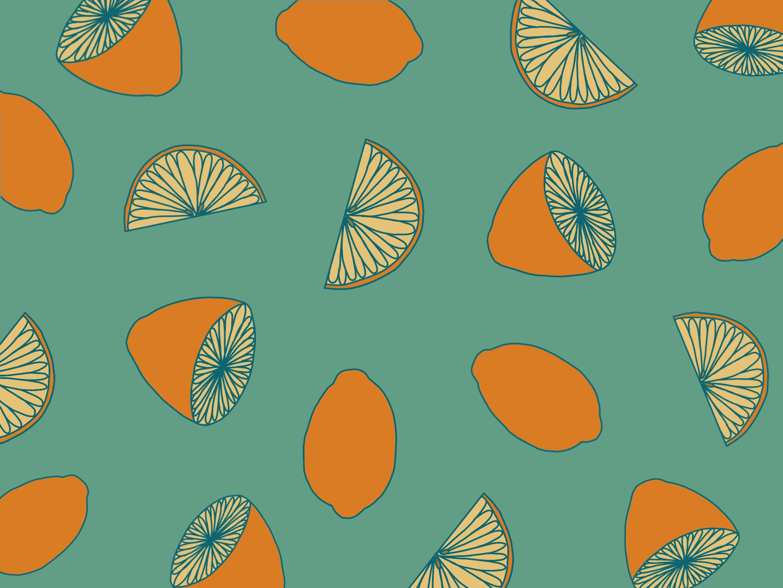 Illustration of lemons wallpaper