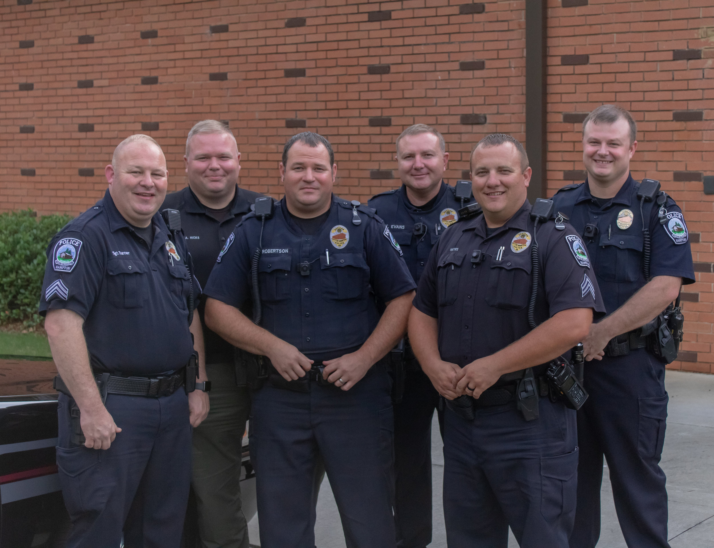 Featured here are a handful of our local Hampton Police Department officers! Thank you for all you do!