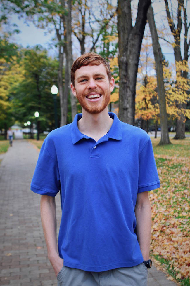 Hogan Dwyer, Campus Leader at St. Lawrence University. Click on the picture to read his story.