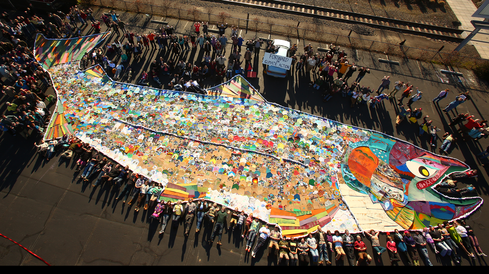 Our Climate's salmon mosaic