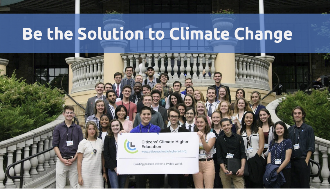 This presentation is for introducing students and others in higher ed to CCL. It includes an overview of carbon fee and dividend, CCL, and how students can get involved.
