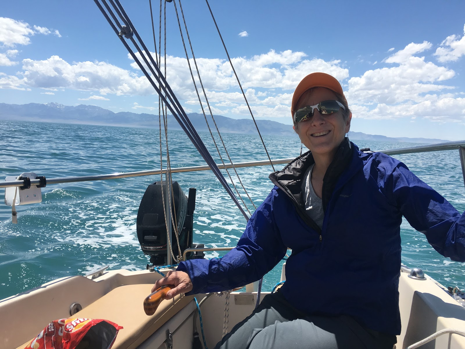 Published poet and active member of CCL, Regina Pistilli, enjoying her free time sailing. Click on the picture to read her story.