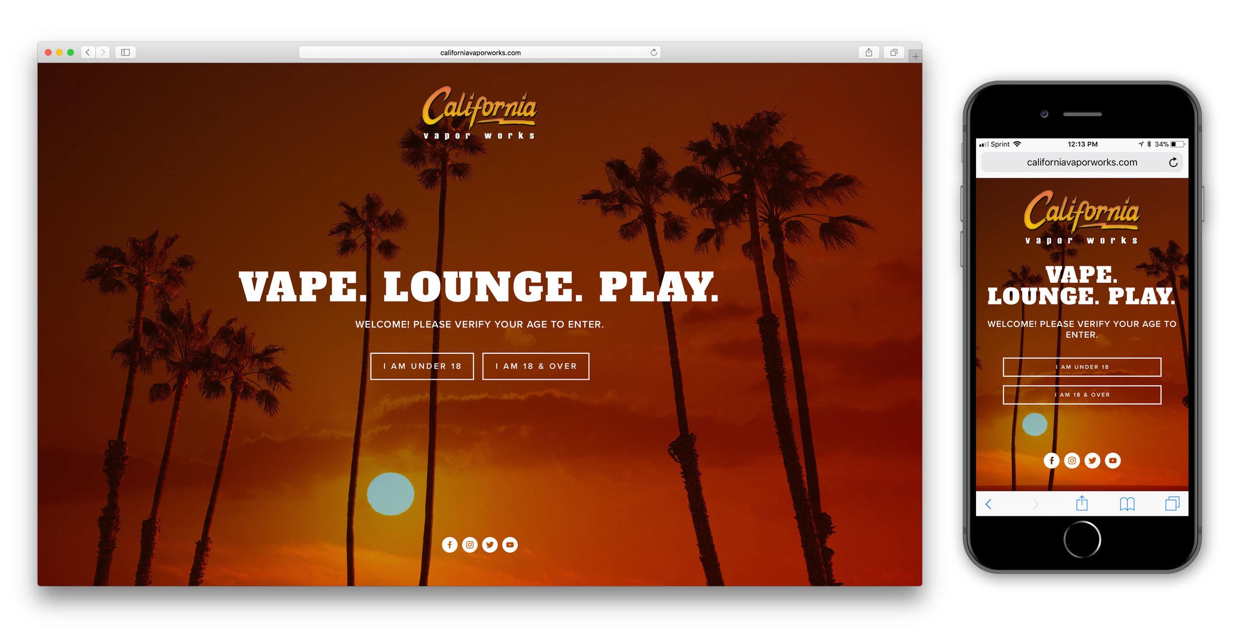 Web Design for California Vapor Works - Responsive Desktop and Mobile Design
