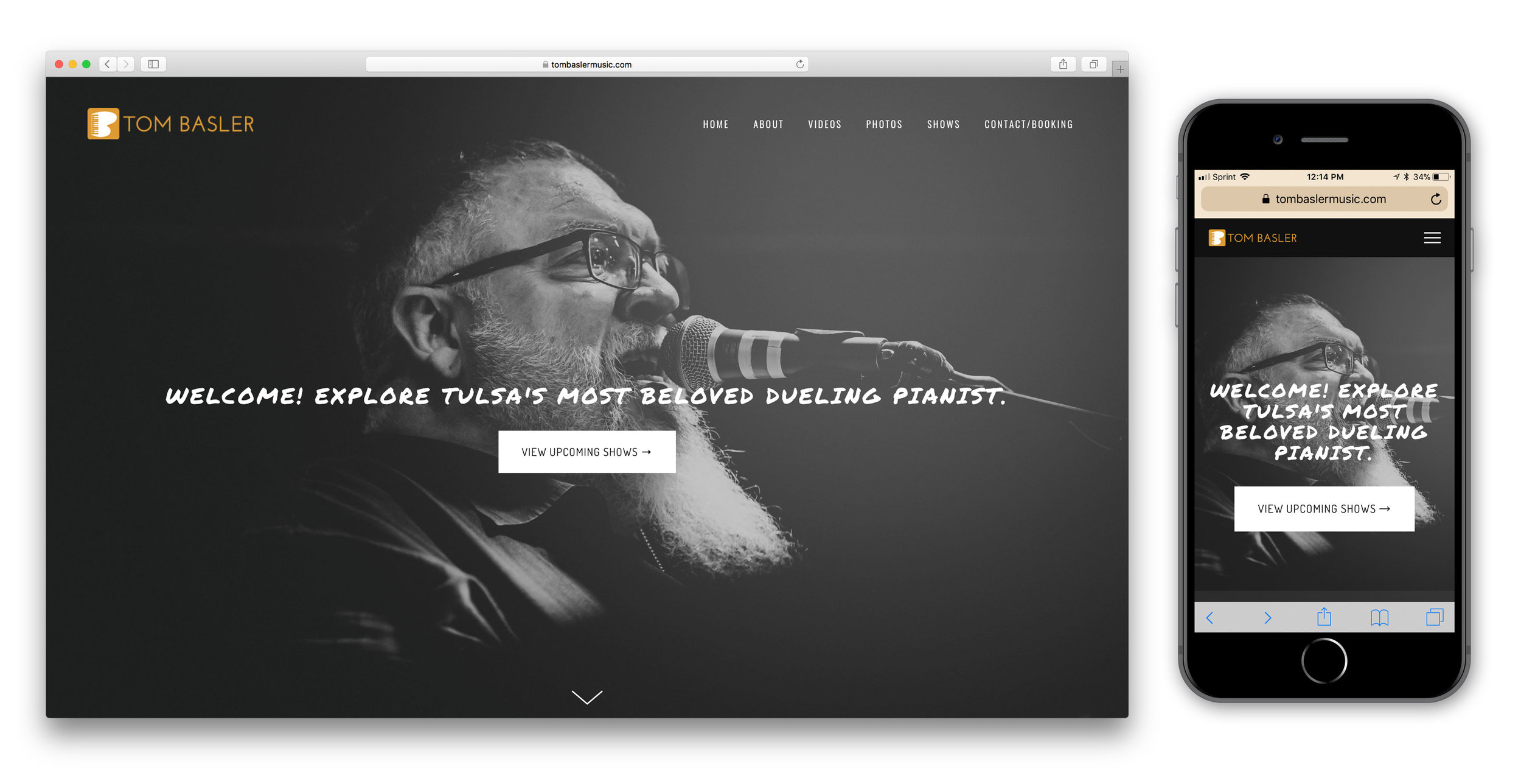 Web Design Tom Basler Music
