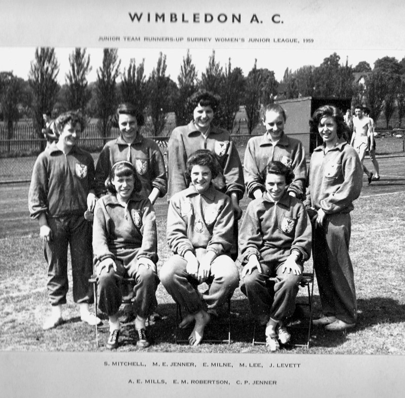 The Wimbledon AC Women's Junior team of 1959