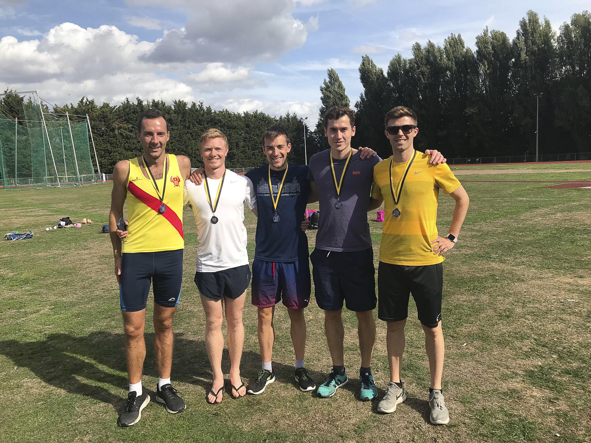 Road relay silver medallists.JPG