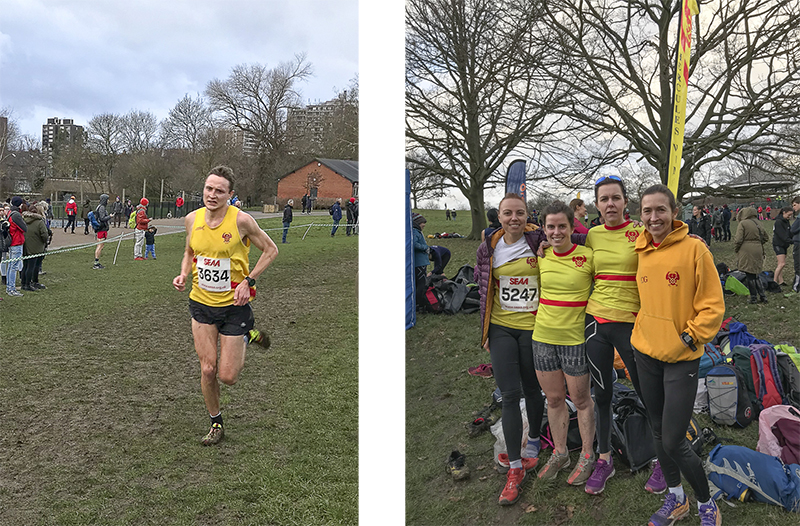 Above: first HW man home, Jonny Cornish; and right: the Senior Women's team