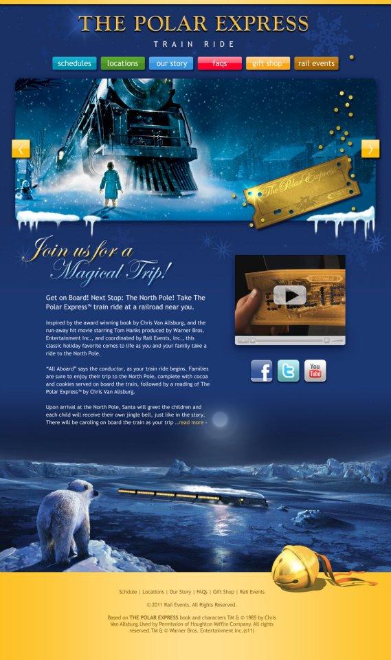 Website - Polar Express Train Ride
