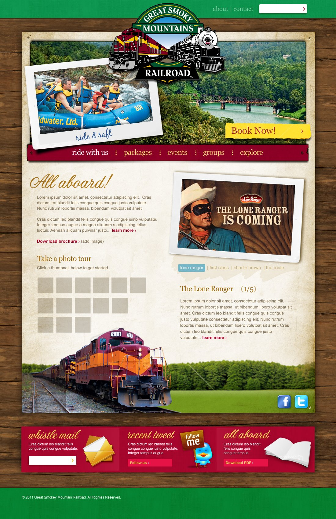 Website - Great Smokey Mountain Railroad