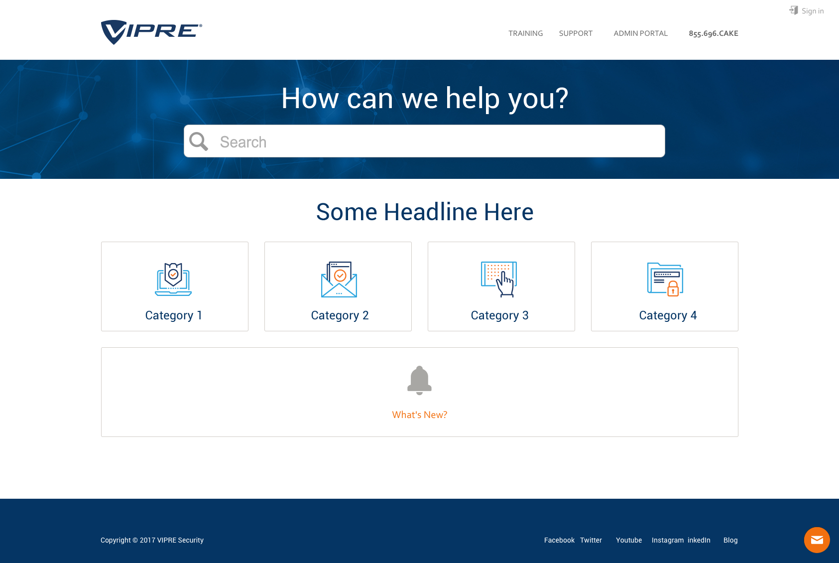 Website - MindTouch for VIPRE