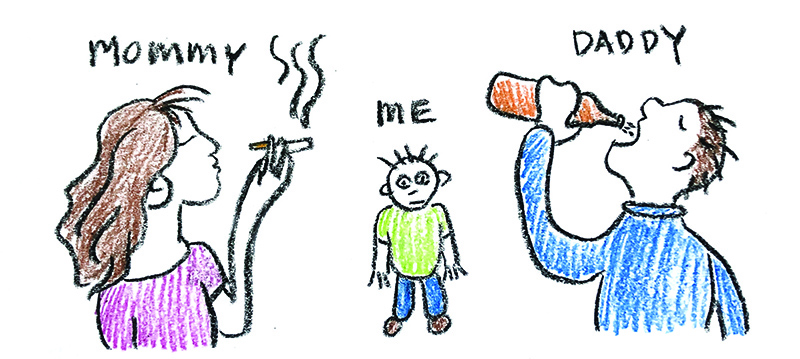 children's drawing - homelessness