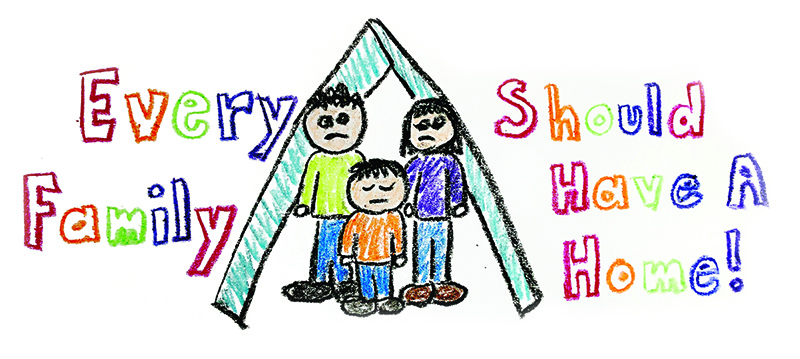 children's drawing - every family should have a home