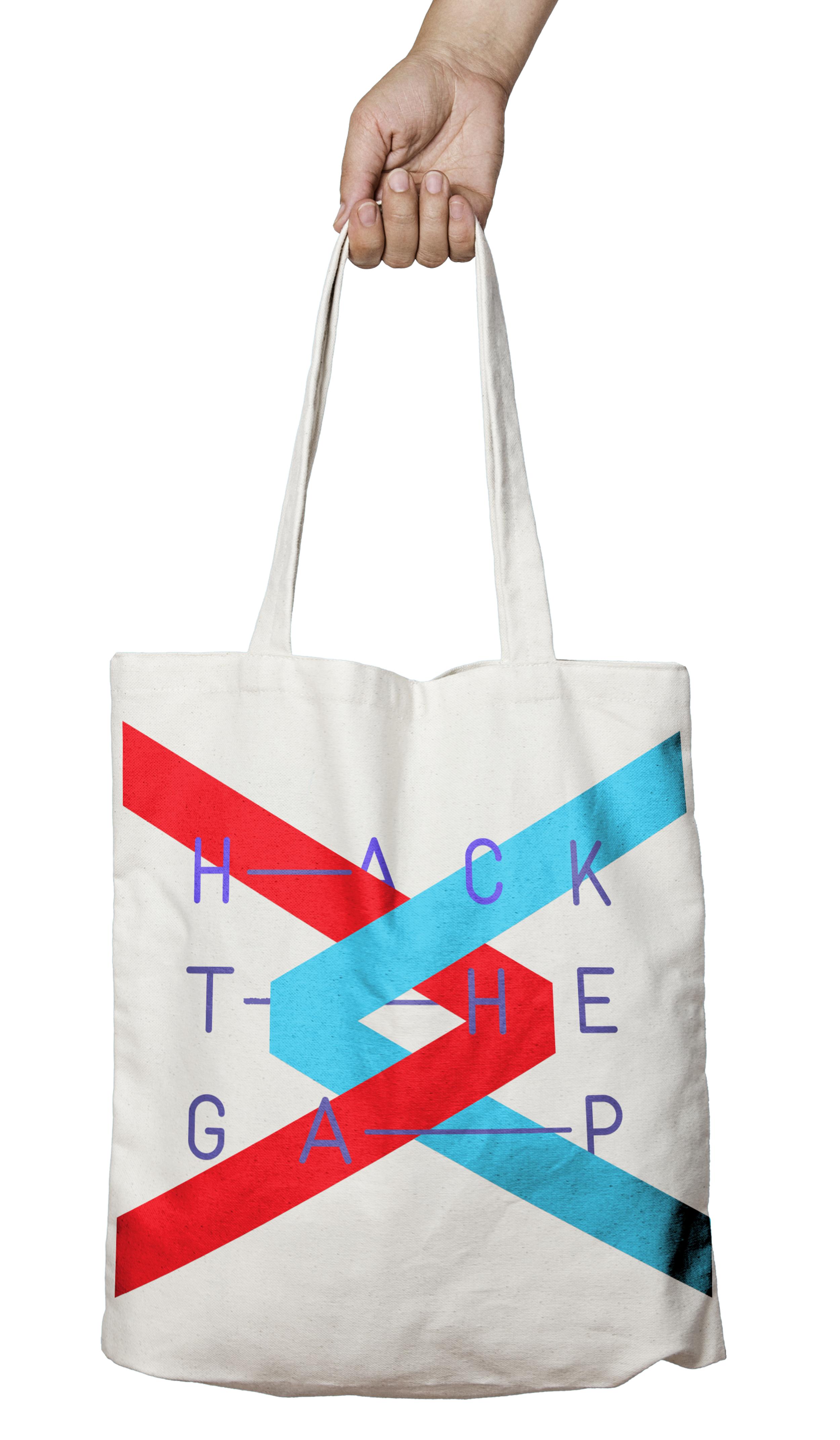 Hack the Gap - Branding for a hackathon focused on discovering STEM gender-gap solutions.